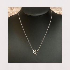 NEW | Sterling Silver & CZ Swirl Heart Necklace